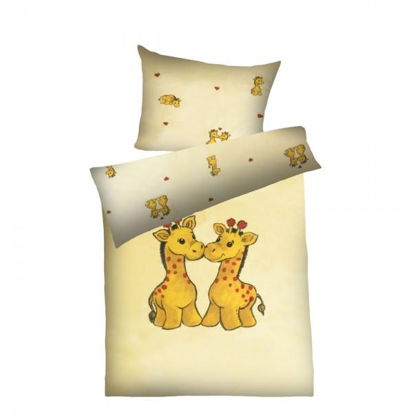Kinder-Weichfrottier-Bettwäsche Bobo, gelb