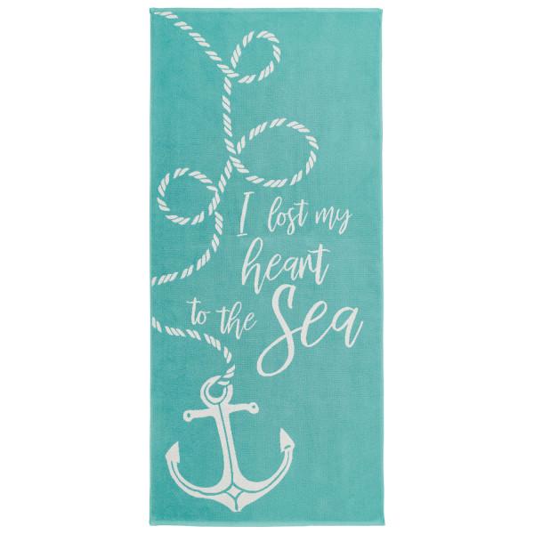 Strandtuch Sea Love, aqua