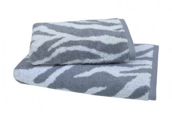 Frottiertuch Zebra, grau