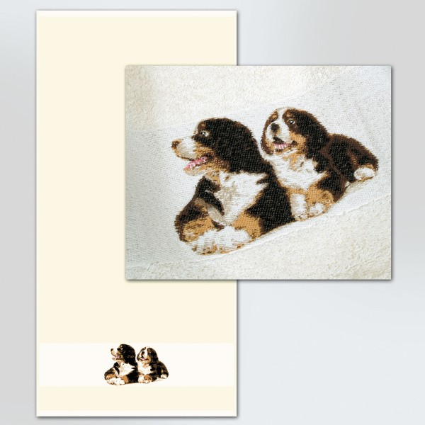 Frottiertücher Berner Sennenhund, natur