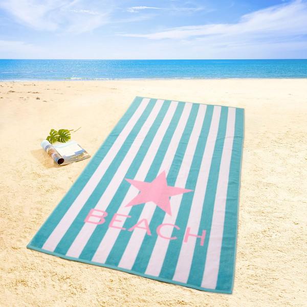 Strandtuch Beach, blau
