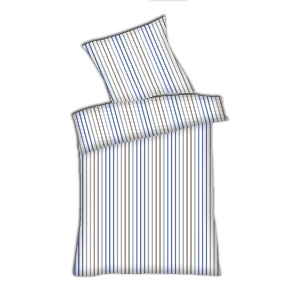 Weichfrottier-Bettwäsche Stefanie, blau