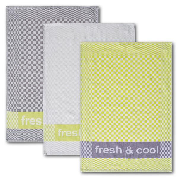 Geschirrtuch 3-er Set fresh & cool