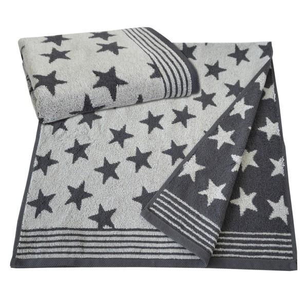 Frottierserie Stars, silber
