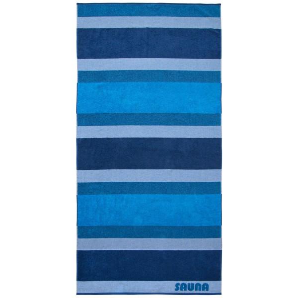 Saunatuch Sauna Stripe, blau