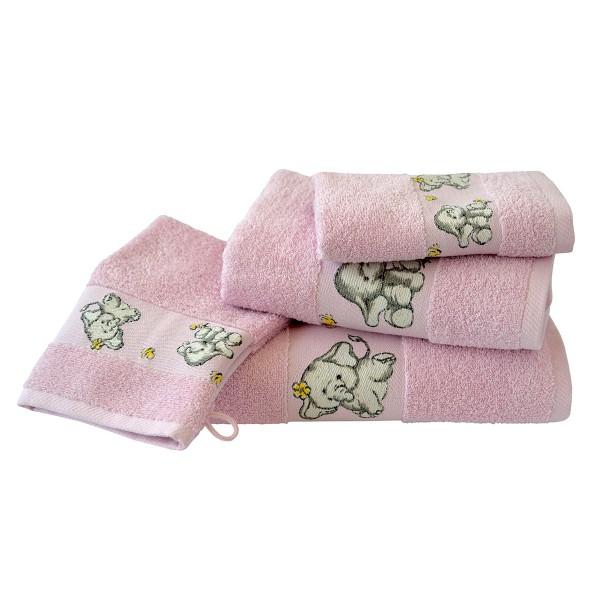 Kinderfrottierserie Elefant, pink