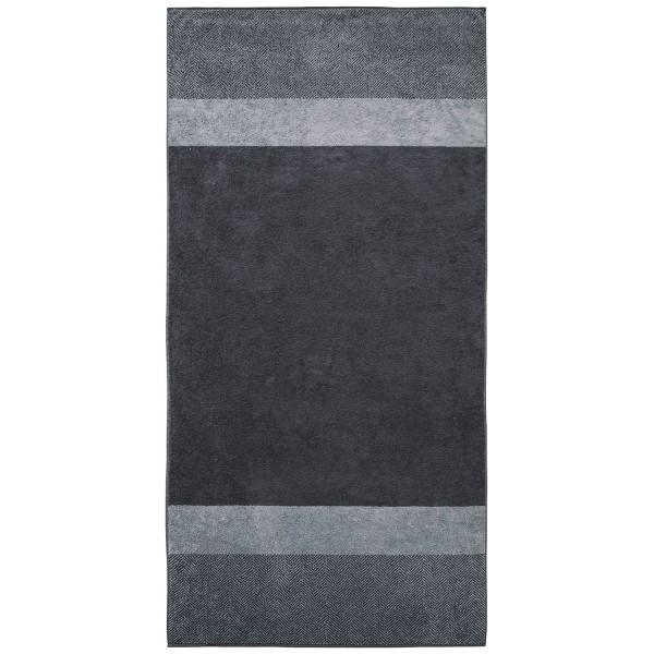 Saunatuch Two-Tone Stripe, silber