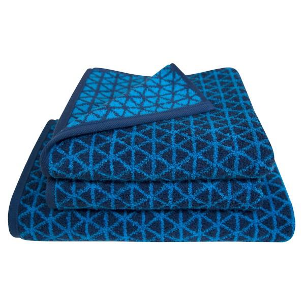 Frottierserie Triangle, blau