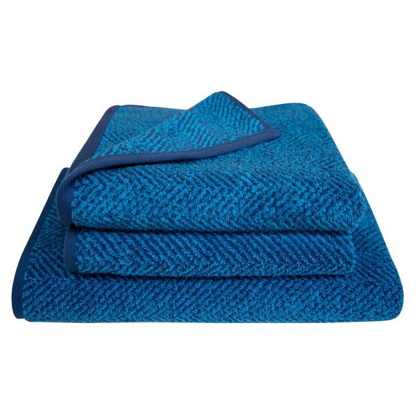 Frottierserie Herringbone, blau