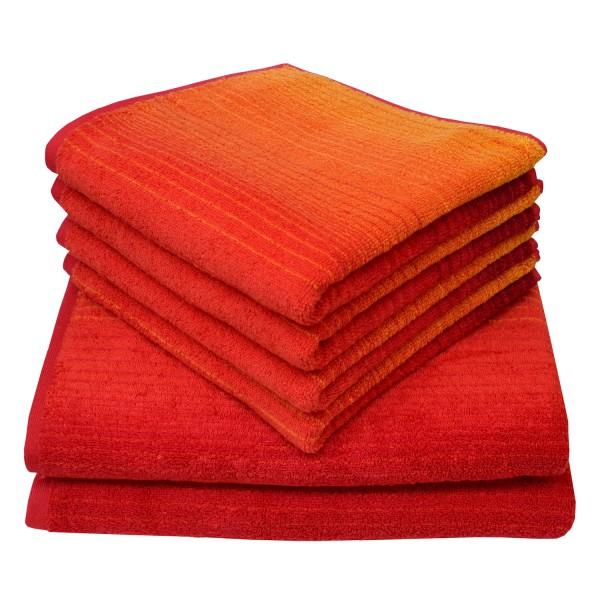 Frottierserie Colori, rot