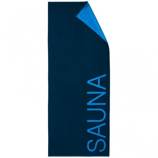 Saunatuch Doubleface, blau